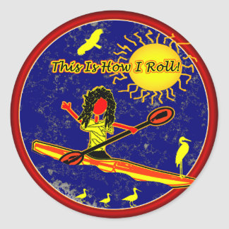 Kayak - This Is How I Roll! Classic Round Sticker