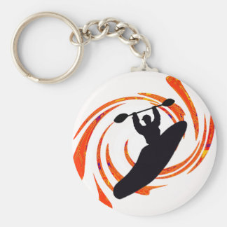 kayak Waters Rising Basic Round Button Key Ring