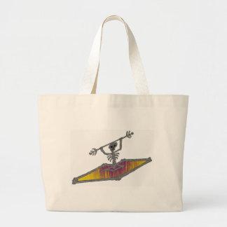 Kayak Yellow Smile Jumbo Tote Bag