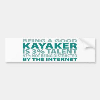 Kayaker 3% Talent Bumper Sticker