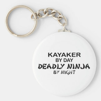 Kayaker Deadly Ninja by Night Basic Round Button Key Ring