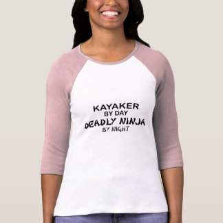 Kayaker Deadly Ninja by Night T-Shirt