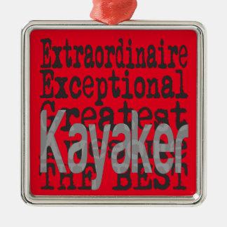 Kayaker Extraordinaire Christmas Ornament