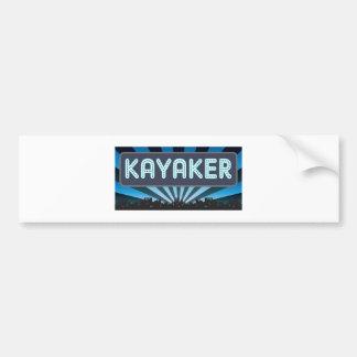 Kayaker Marquee Bumper Sticker