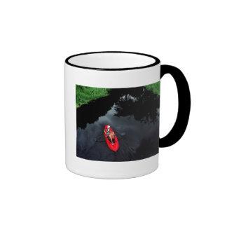 Kayaker on Loxahatchee River Ringer Coffee Mug