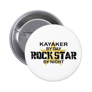 Kayaker Rock Star by Night Pins