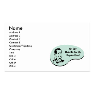 Kayaker Voice Pack Of Standard Business Cards