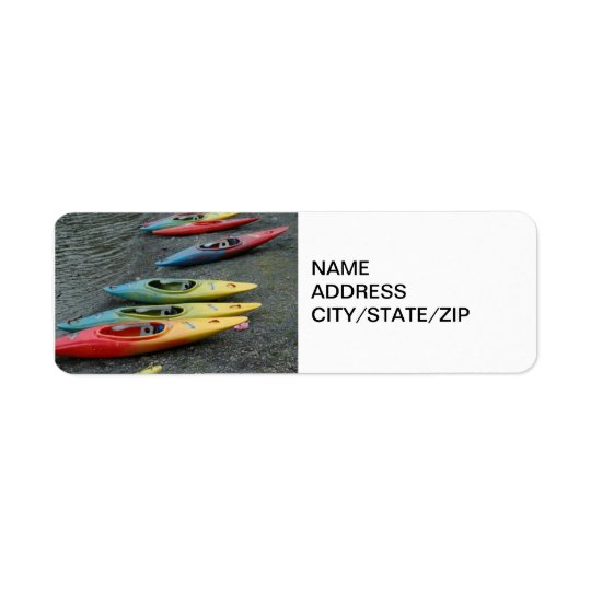 KAYAKER'S ADDRESS LABEL