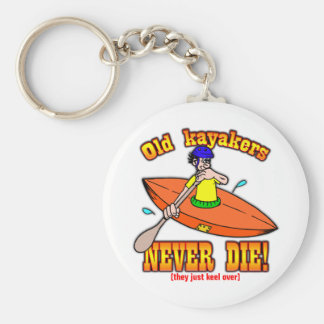 Kayakers Basic Round Button Key Ring
