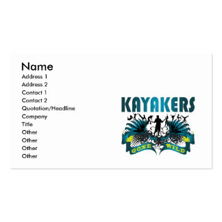 Kayakers Gone Wild Business Card Template