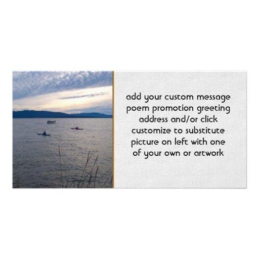 Kayakers On Bellingham Bay Photo Card
