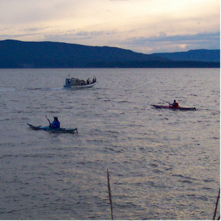 Kayakers On Bellingham Bay Standing Photo Sculpture