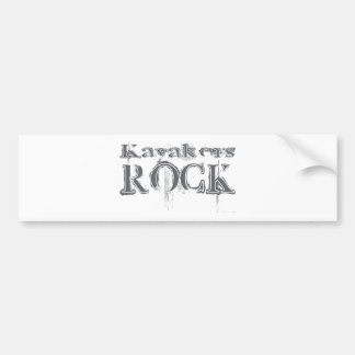 Kayakers Rock Bumper Stickers