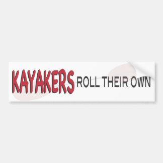 Kayakers Roll Bumper Sticker