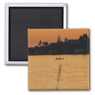 Kayakers Square Magnet