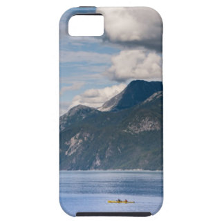Kayakers with mountains and blue skies cover for iPhone 5/5S
