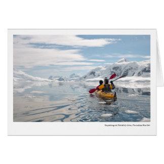 Kayaking at Skontorp Cove, Paradise Harbor Card