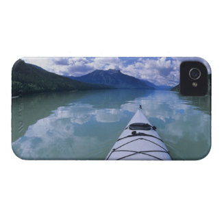 Kayaking at the end end of Azure Lake in Wells iPhone 4 Case-Mate Case