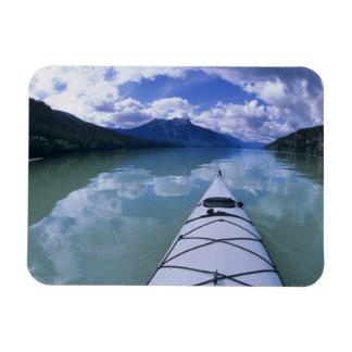 Kayaking at the end end of Azure Lake in Wells Rectangular Photo Magnet