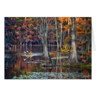 Kayaking - Caddo Lake, Texas - Autumn Greeting Card
