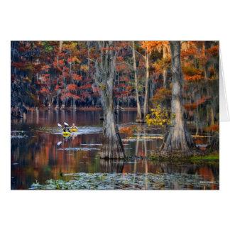Kayaking - Caddo Lake, Texas - Autumn Greeting Card