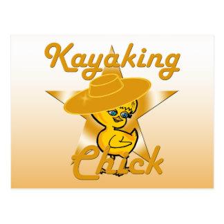 Kayaking Chick #10 Postcard