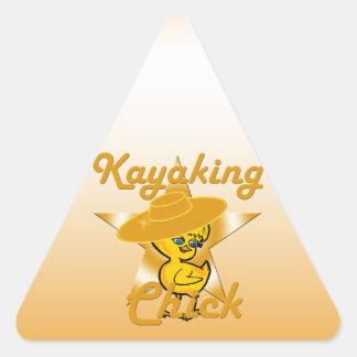 Kayaking Chick #10 Triangle Sticker
