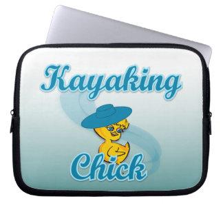 Kayaking Chick. #3 Laptop Sleeves