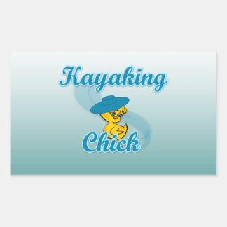 Kayaking Chick. #3 Rectangular Sticker