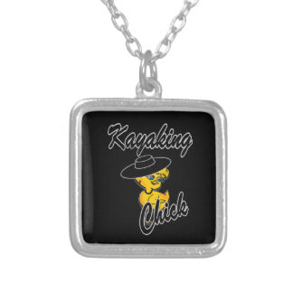 Kayaking Chick #4 Personalized Necklace