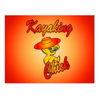 Kayaking Chick #5 Postcard