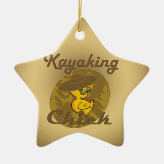 Kayaking Chick #6 Ceramic Star Decoration