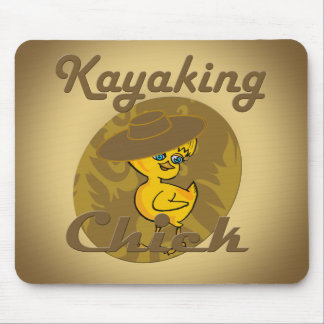 Kayaking Chick #6 Mouse Pad