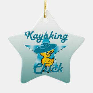Kayaking Chick #7 Ceramic Star Decoration