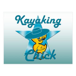 Kayaking Chick #7 Postcard