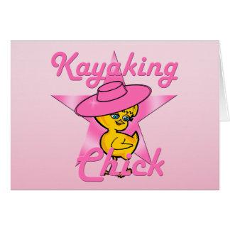 Kayaking Chick #8 Greeting Card