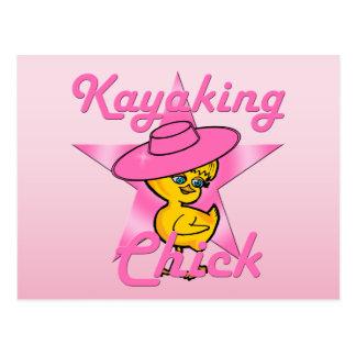 Kayaking Chick #8 Postcard