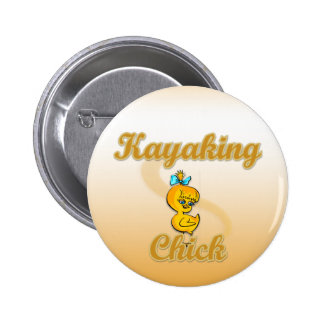Kayaking Chick Buttons