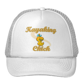 Kayaking Chick Trucker Hats