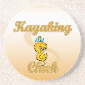 Kayaking Chick Drink Coaster