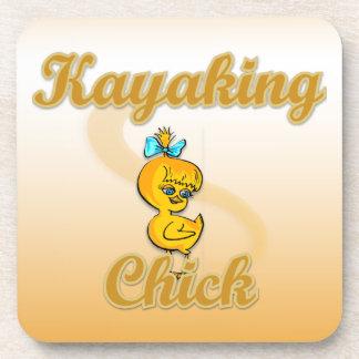 Kayaking Chick Beverage Coaster