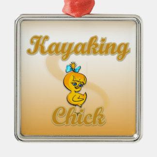Kayaking Chick Ornament