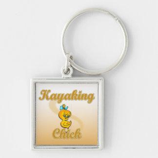 Kayaking Chick Keychain