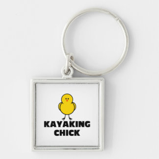 Kayaking Chick Key Chain