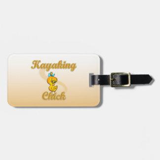 Kayaking Chick Luggage Tags