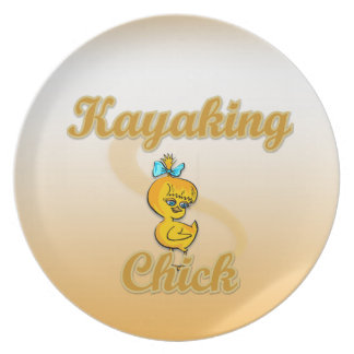 Kayaking Chick Party Plates