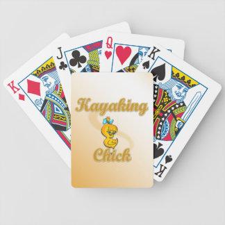 Kayaking Chick Poker Deck