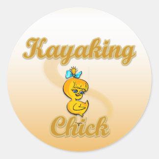 Kayaking Chick Stickers
