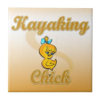 Kayaking Chick Tiles
