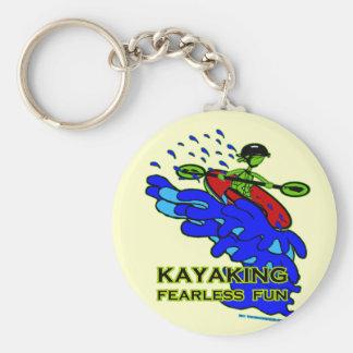 Kayaking Fearless Fun Gifts Basic Round Button Key Ring